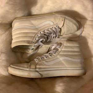 White Sk8-Hi Vans